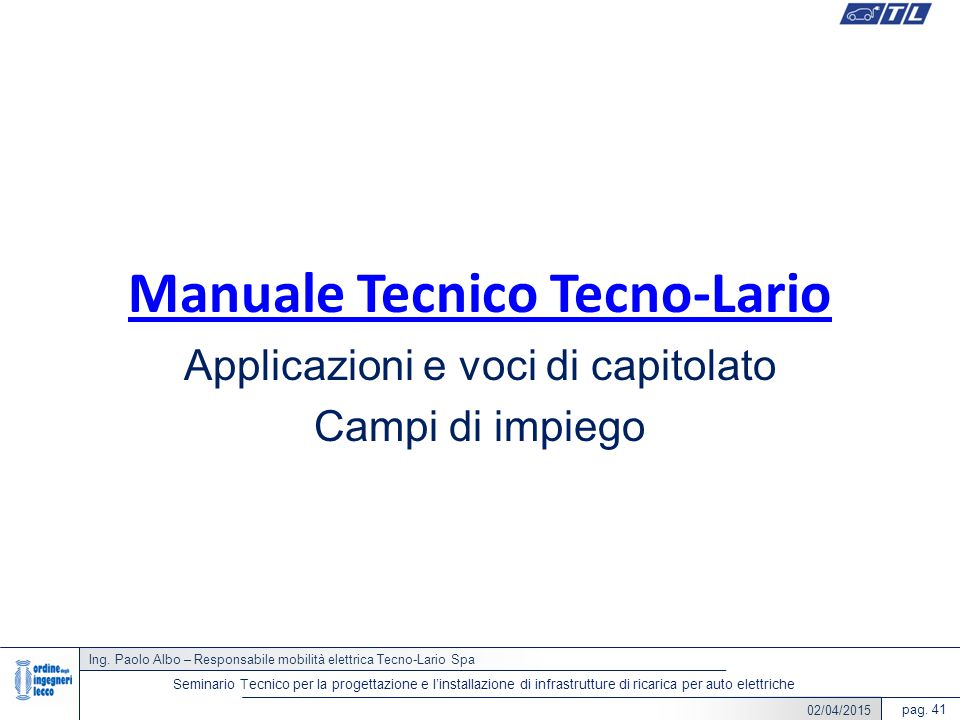 Manuale Tecnico Tecno-Lario