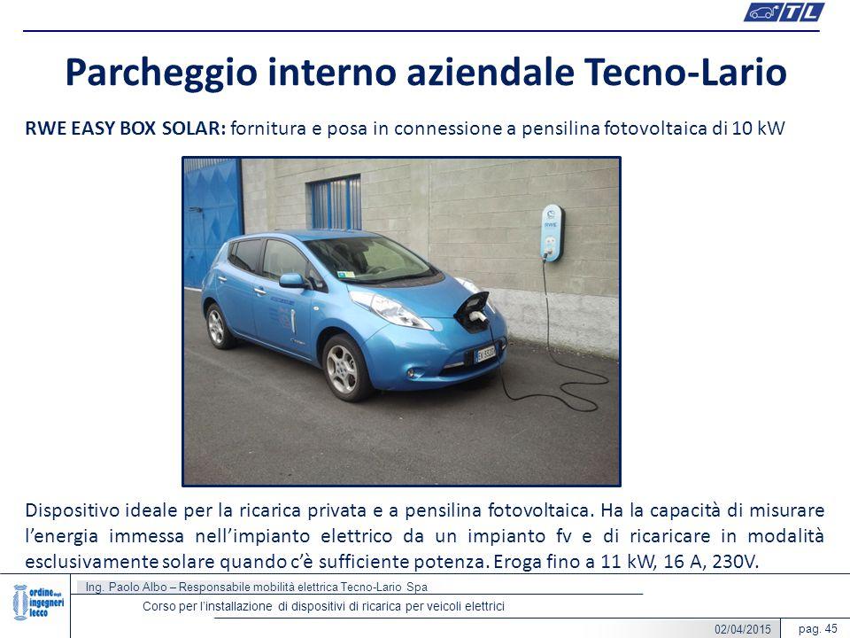 Parcheggio interno aziendale Tecno-Lario