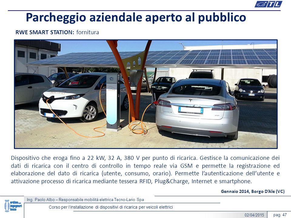 Parcheggio aziendale aperto al pubblico