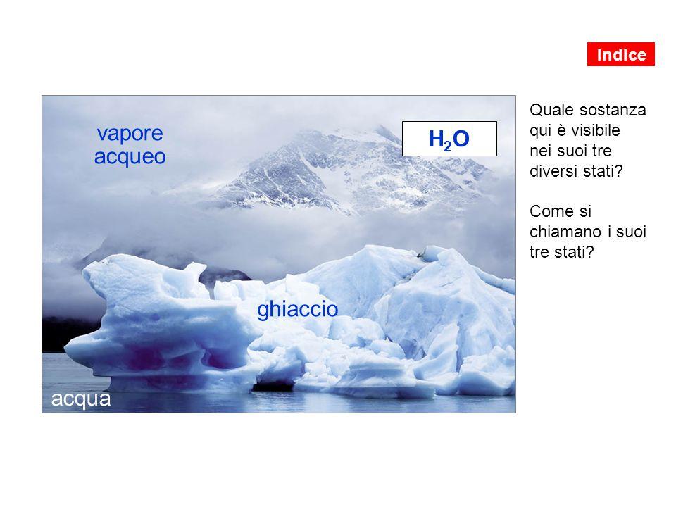 vapore acqueo H2O ghiaccio acqua Indice Quale sostanza qui è visibile