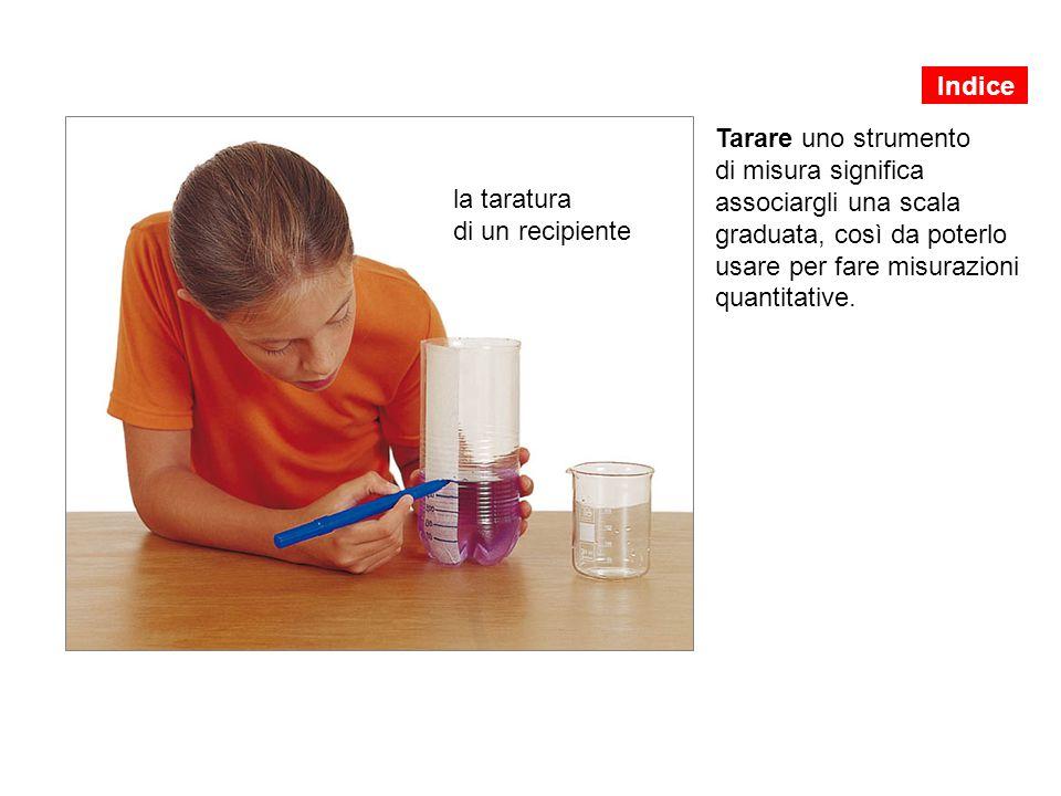 Indice Tarare uno strumento di misura significa associargli una scala graduata, così da poterlo usare per fare misurazioni quantitative.