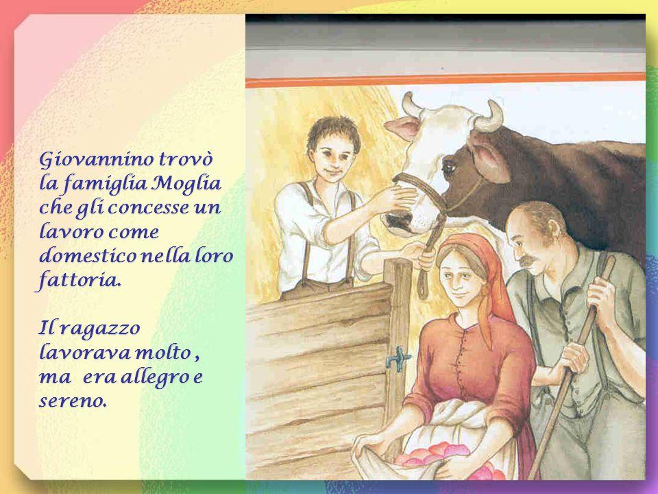 Giovannino trovò la famiglia Moglia che gli concesse un lavoro come domestico nella loro fattoria.