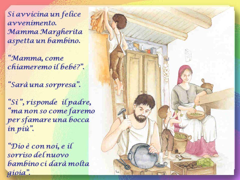 Si avvicina un felice avvenimento. Mamma Margherita aspetta un bambino.