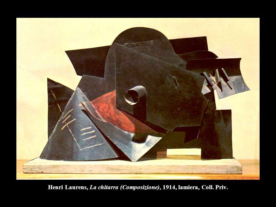 Henri Laurens, La chitarra (Composizione), 1914, lamiera, Coll. Priv.