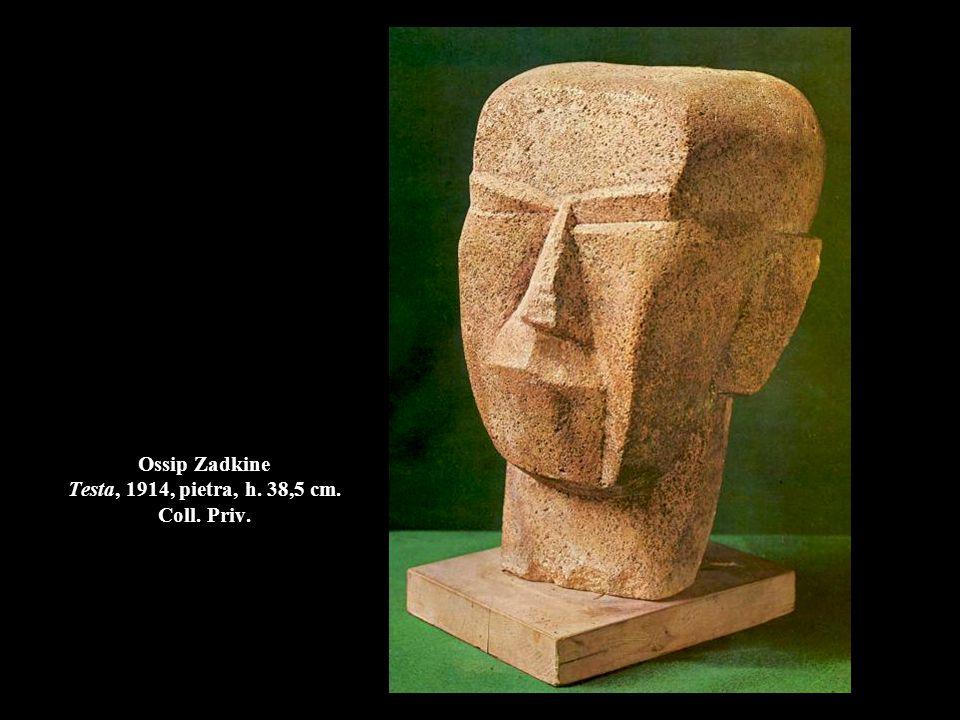 Ossip Zadkine Testa, 1914, pietra, h. 38,5 cm. Coll. Priv.