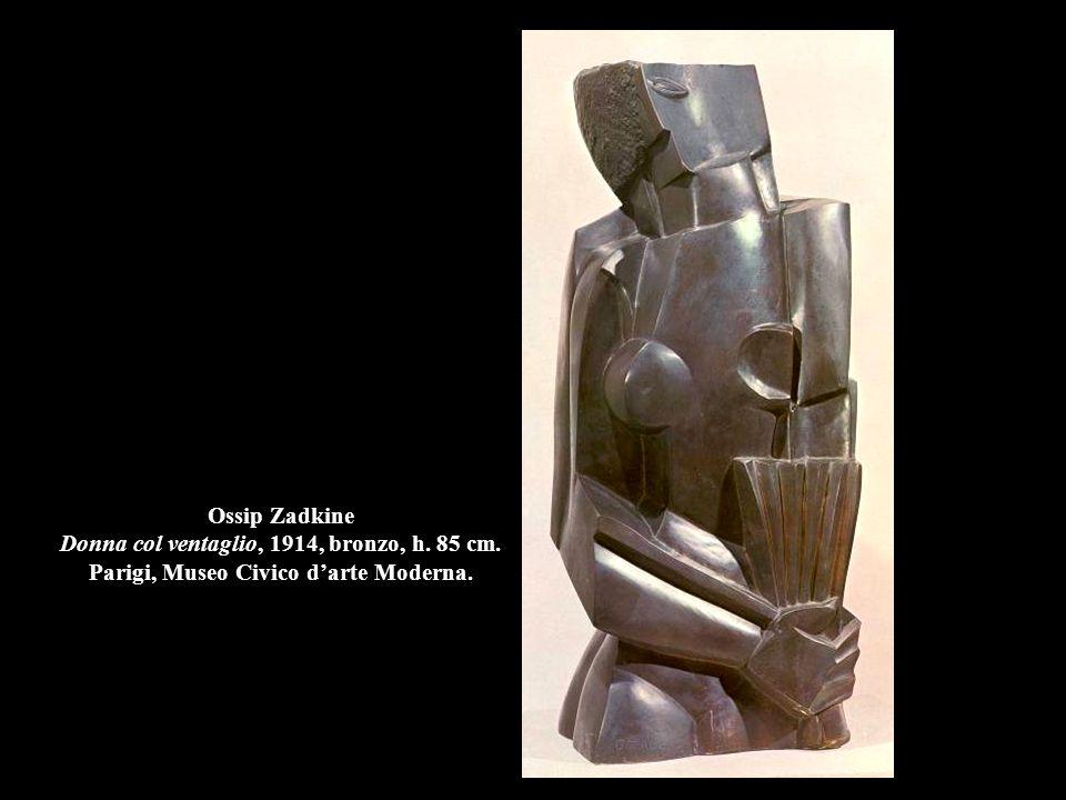 Ossip Zadkine Donna col ventaglio, 1914, bronzo, h. 85 cm