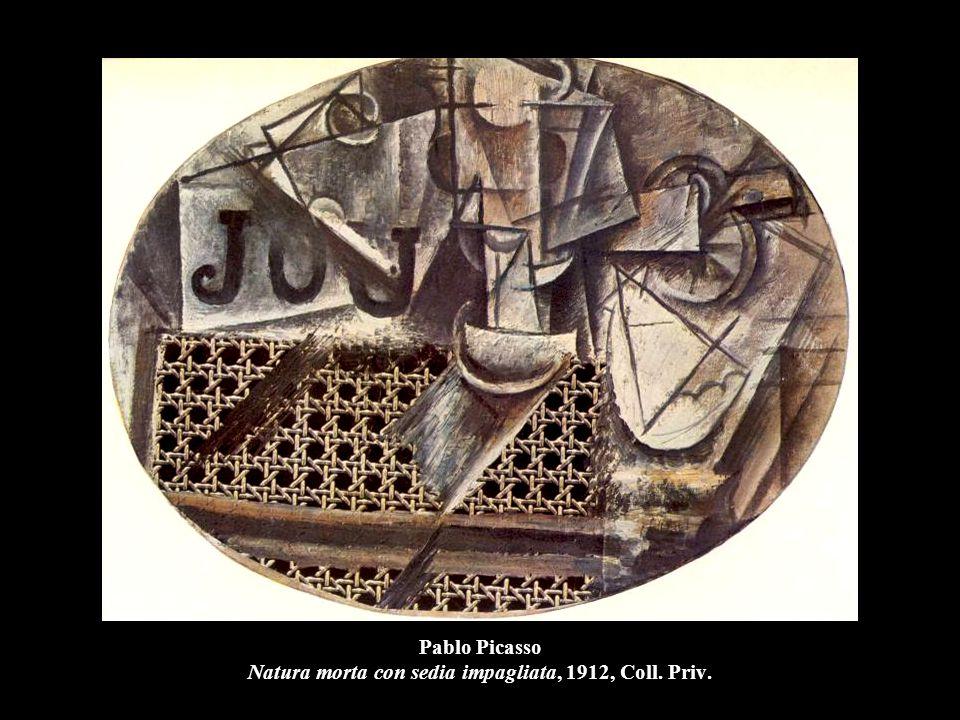 Pablo Picasso Natura morta con sedia impagliata, 1912, Coll. Priv.