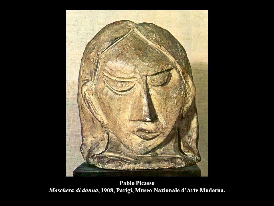 Pablo Picasso Maschera di donna, 1908, Parigi, Museo Nazionale d'Arte Moderna.