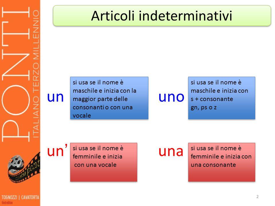 Articoli indeterminativi