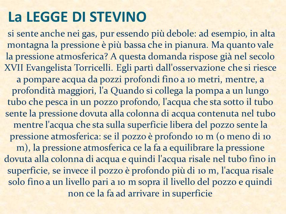 La LEGGE DI STEVINO