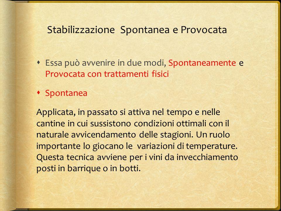 Stabilizzazione Spontanea e Provocata