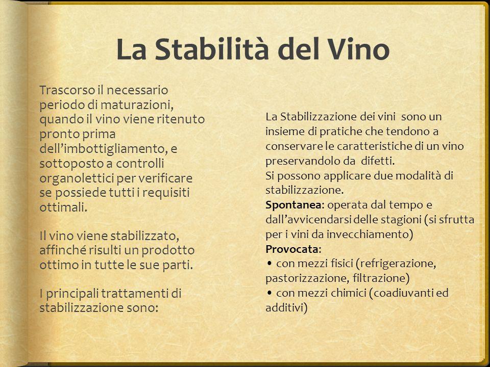 La Stabilità del Vino