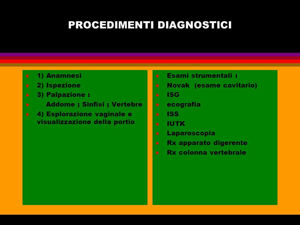 PROCEDIMENTI DIAGNOSTICI