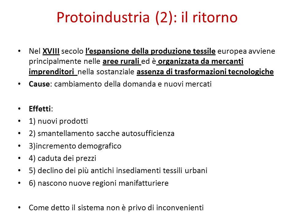 Protoindustria (2): il ritorno