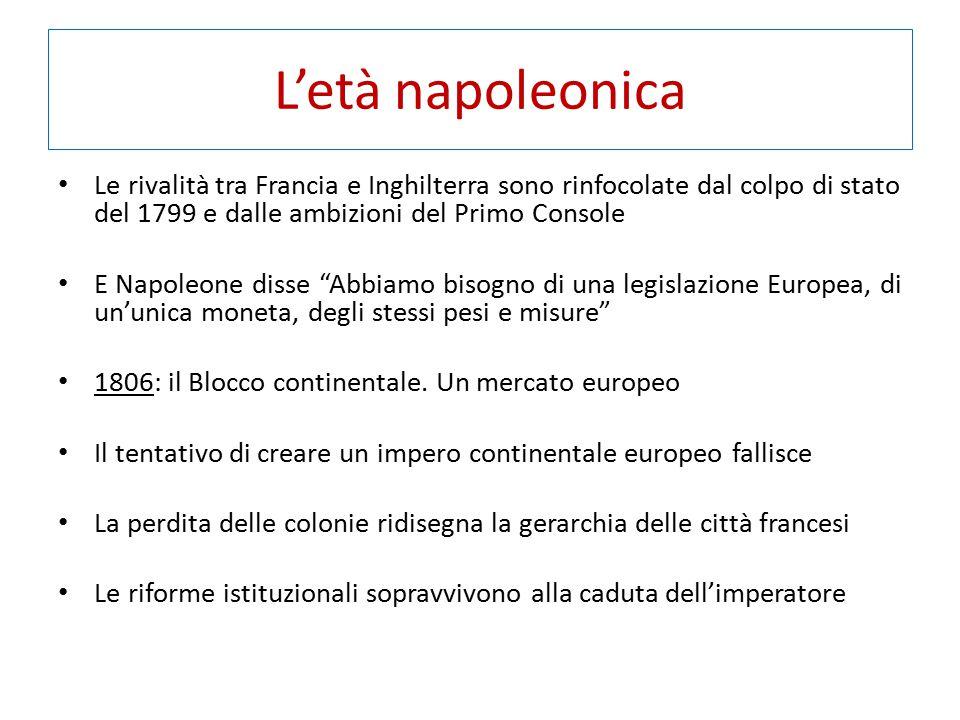 L'età napoleonica Le rivalità tra Francia e Inghilterra sono rinfocolate dal colpo di stato del 1799 e dalle ambizioni del Primo Console.