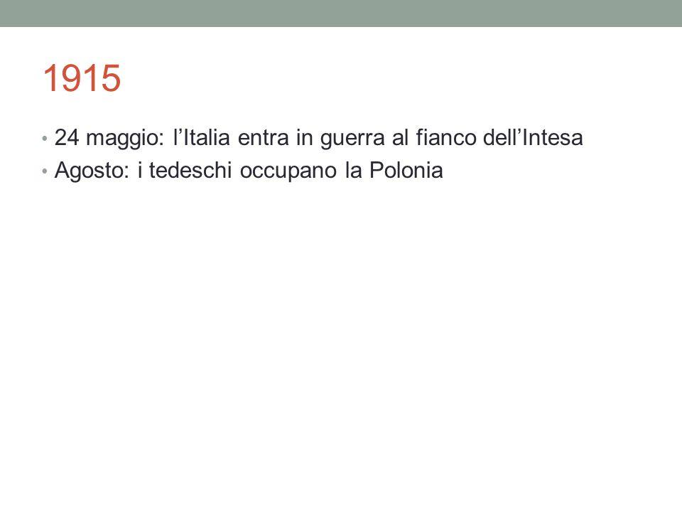 1915 24 maggio: l'Italia entra in guerra al fianco dell'Intesa