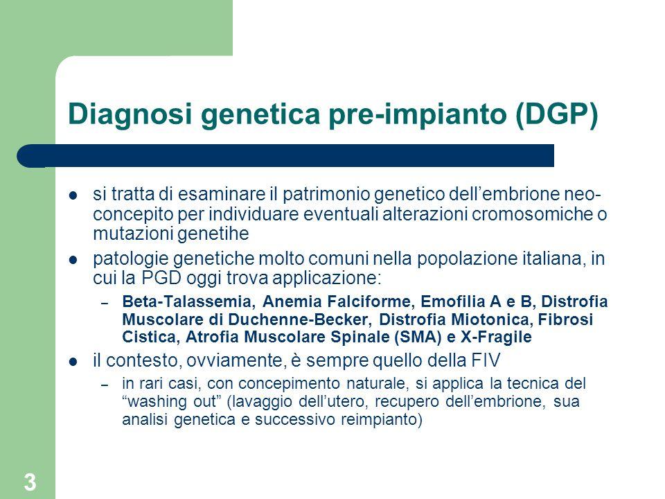 Diagnosi genetica pre-impianto (DGP)