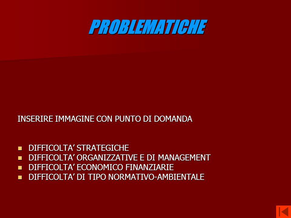 PROBLEMATICHE INSERIRE IMMAGINE CON PUNTO DI DOMANDA