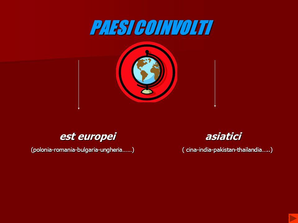 PAESI COINVOLTI est europei asiatici
