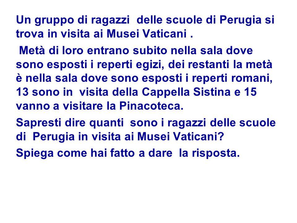 Un gruppo di ragazzi delle scuole di Perugia si trova in visita ai Musei Vaticani .