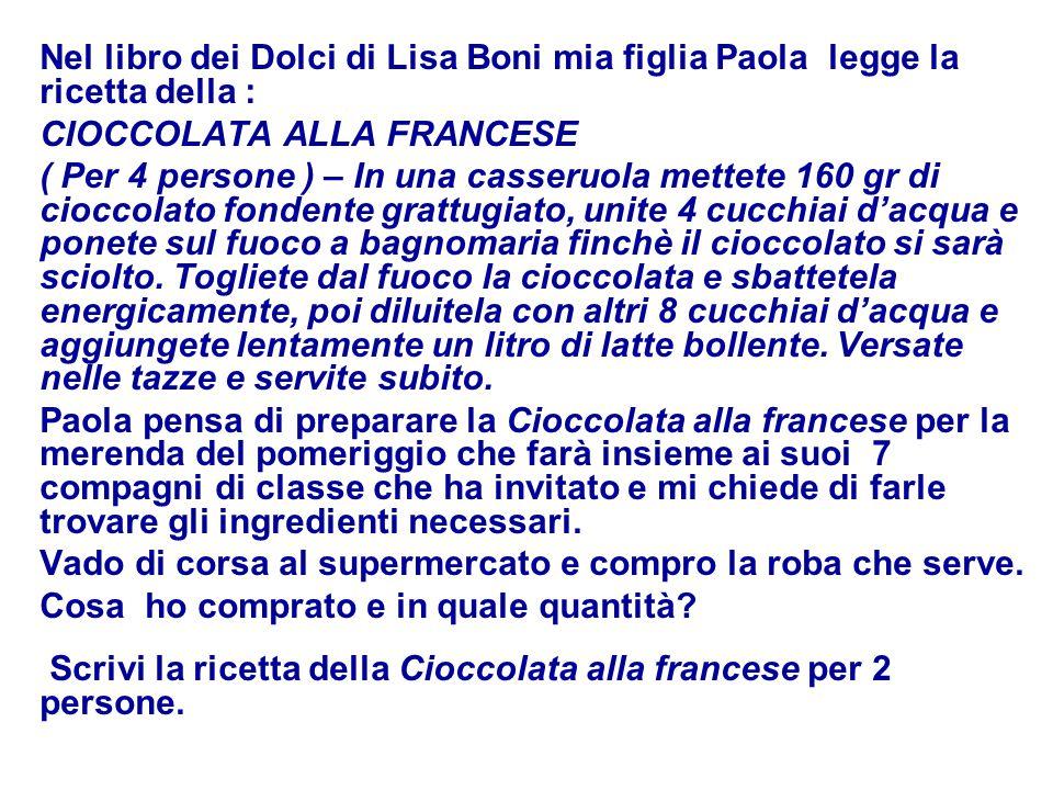 Nel libro dei Dolci di Lisa Boni mia figlia Paola legge la ricetta della :