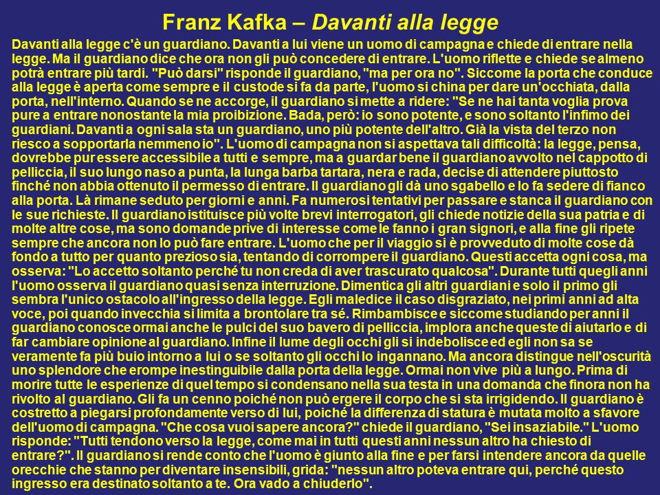 Franz Kafka – Davanti alla legge