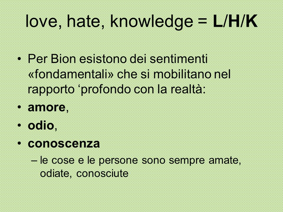 love, hate, knowledge = L/H/K