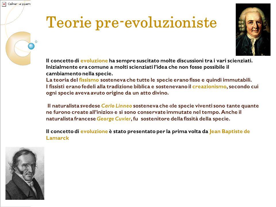 Teorie pre-evoluzioniste