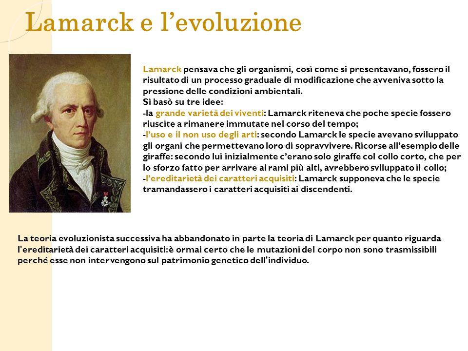 Lamarck e l'evoluzione