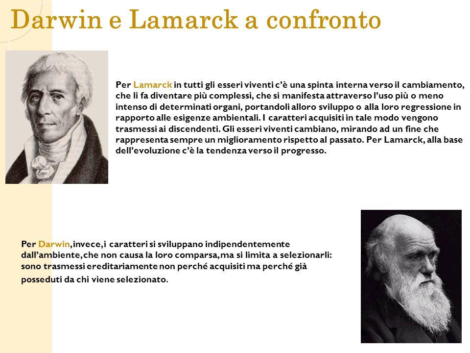 Darwin e Lamarck a confronto