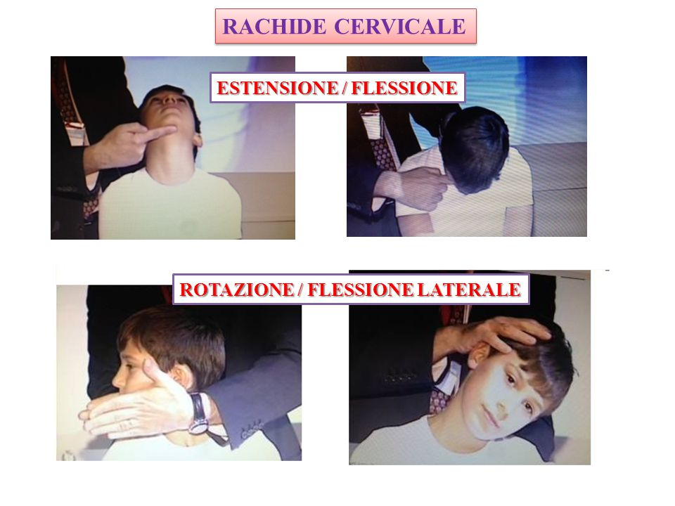 RACHIDE CERVICALE ESTENSIONE / FLESSIONE