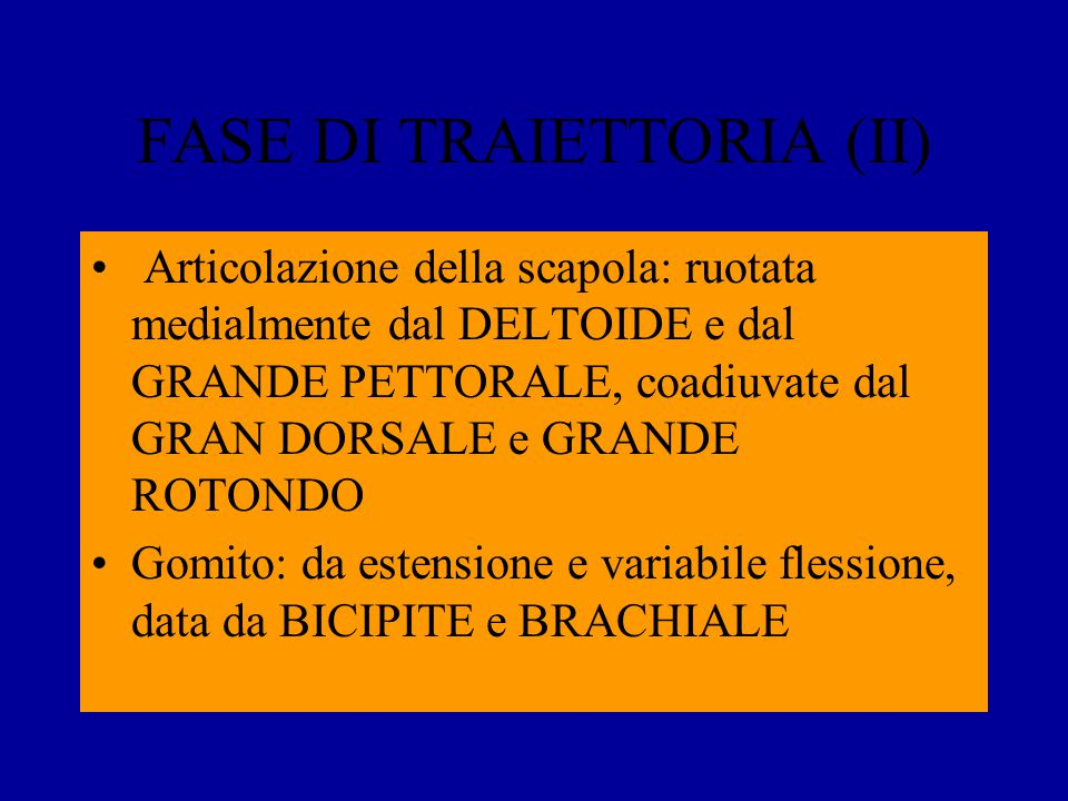 FASE DI TRAIETTORIA (II)