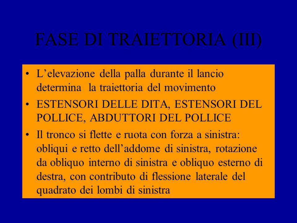 FASE DI TRAIETTORIA (III)