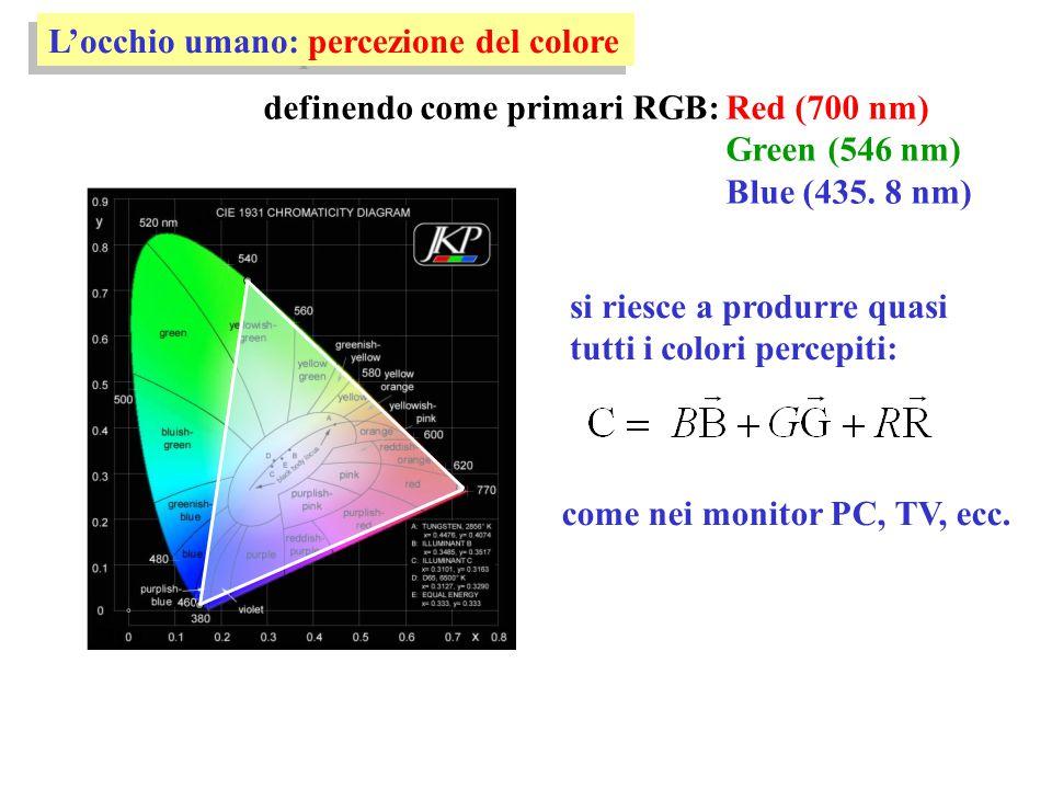 L'occhio umano: percezione del colore
