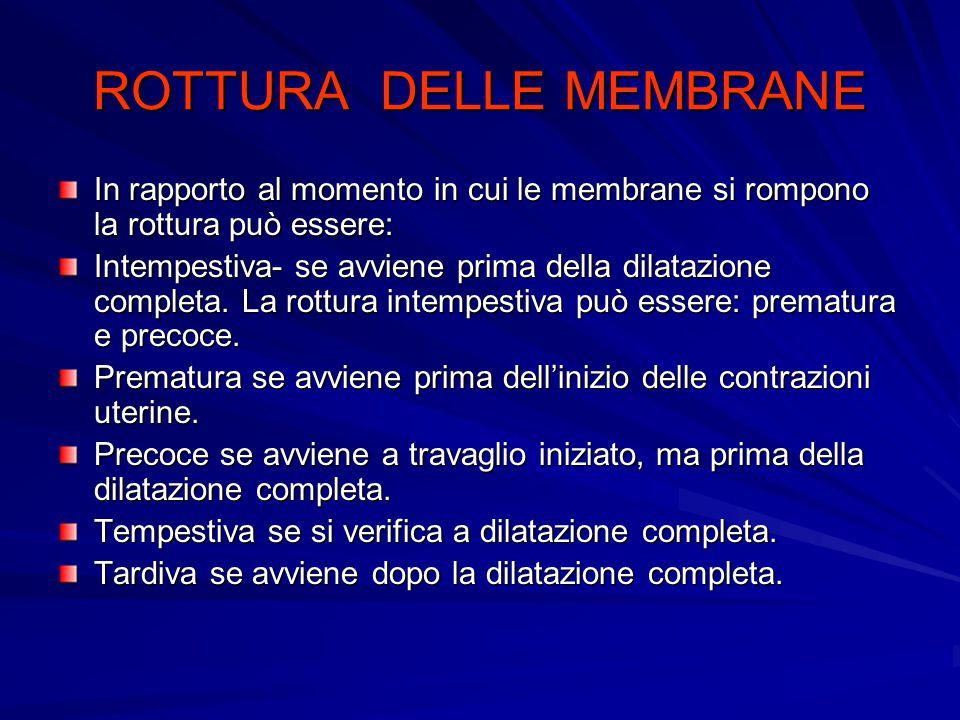 ROTTURA DELLE MEMBRANE