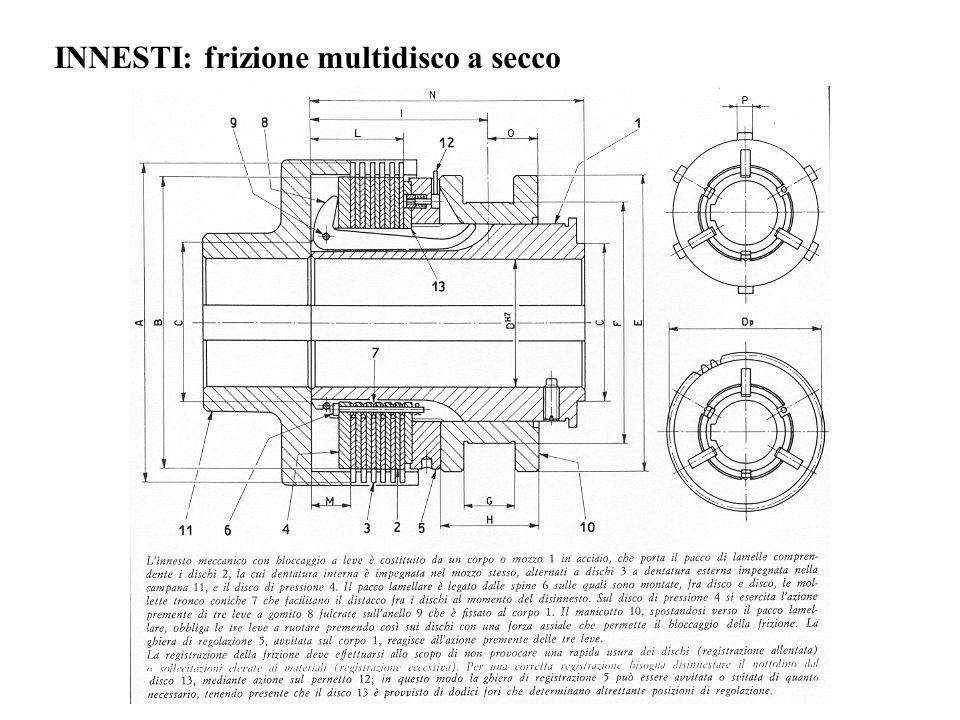 INNESTI: frizione multidisco a secco