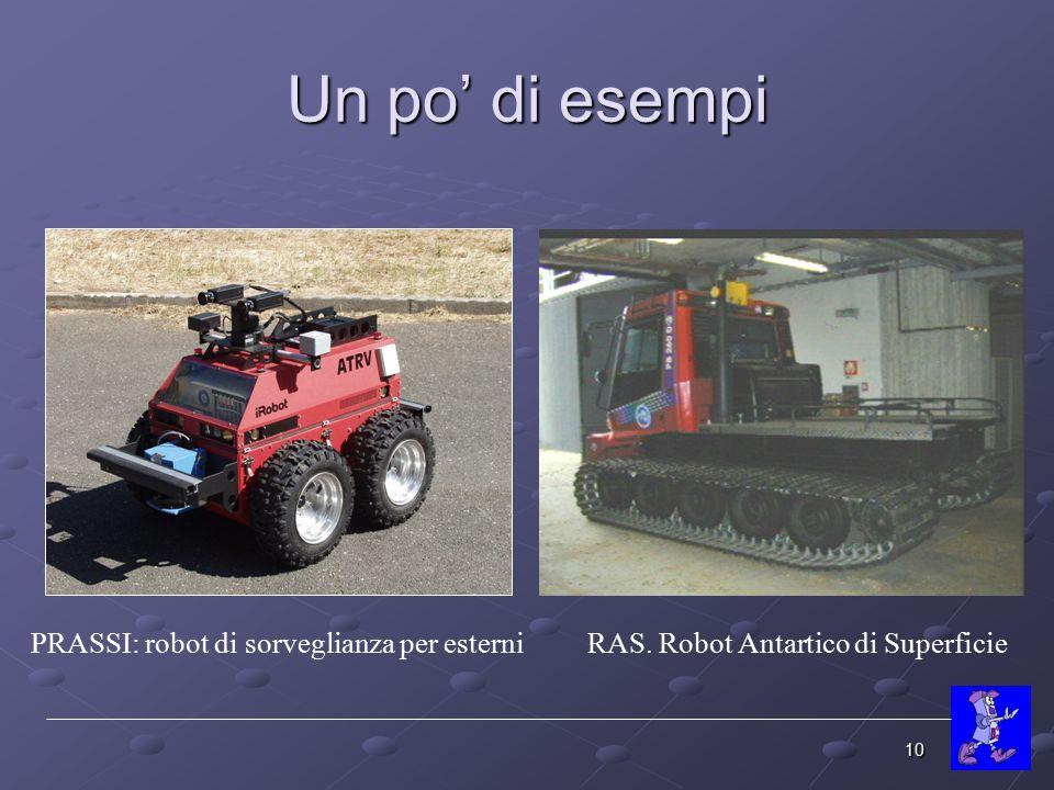 Un po' di esempi PRASSI: robot di sorveglianza per esterni