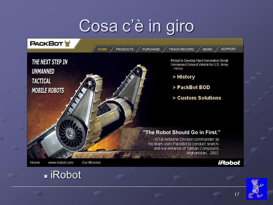 Cosa c'è in giro iRobot