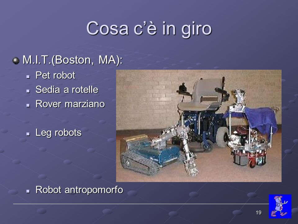 Cosa c'è in giro M.I.T.(Boston, MA): Pet robot Sedia a rotelle