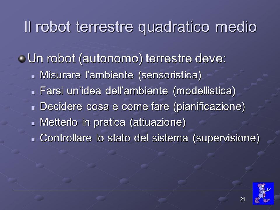 Il robot terrestre quadratico medio