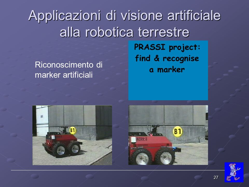 Applicazioni di visione artificiale alla robotica terrestre