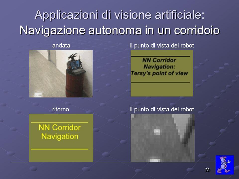 Applicazioni di visione artificiale: Navigazione autonoma in un corridoio