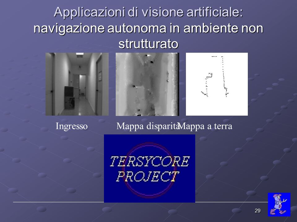 Applicazioni di visione artificiale: navigazione autonoma in ambiente non strutturato