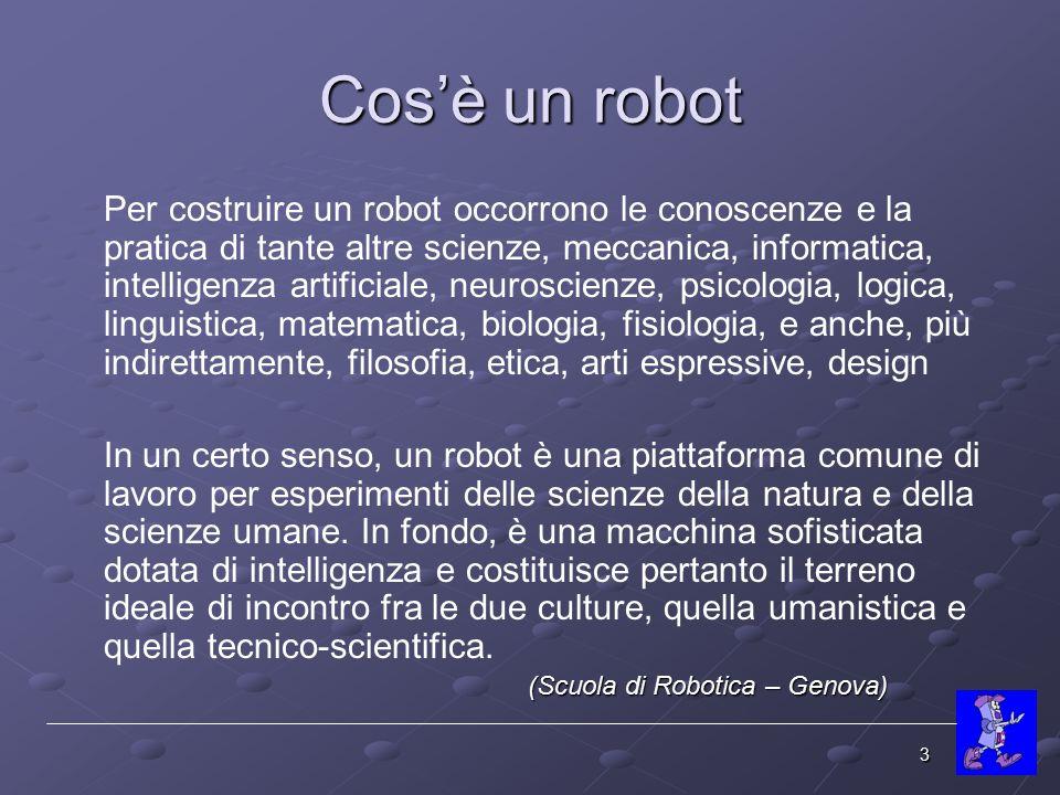 Cos'è un robot