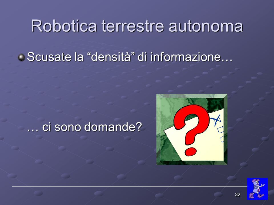 Robotica terrestre autonoma