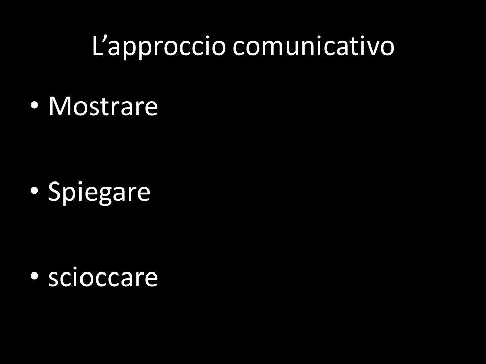 L'approccio comunicativo