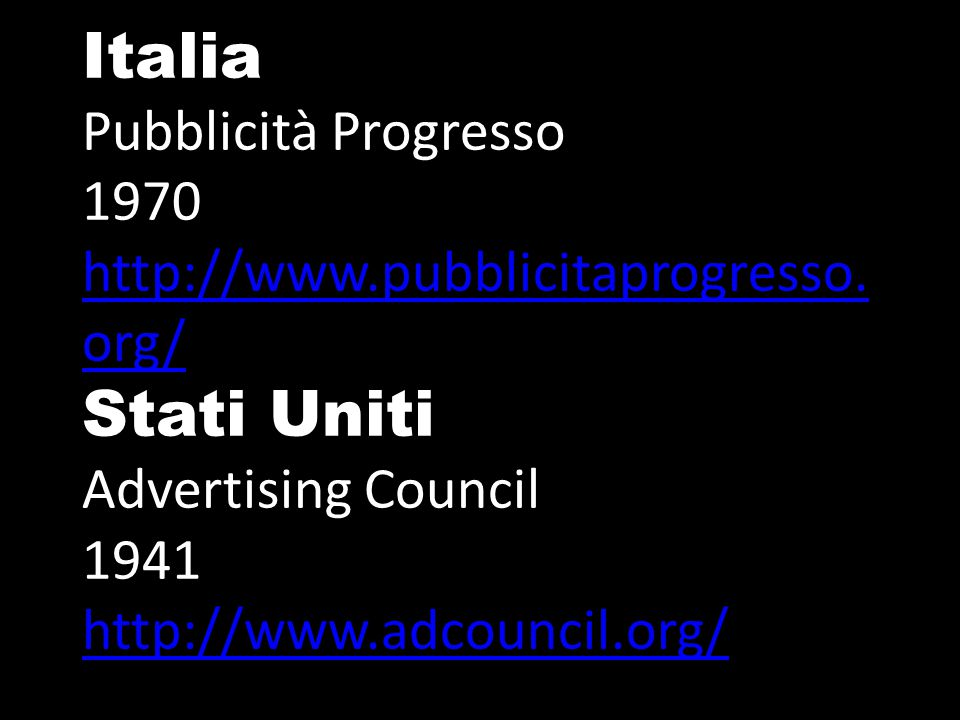 Italia Pubblicità Progresso 1970 http://www. pubblicitaprogresso