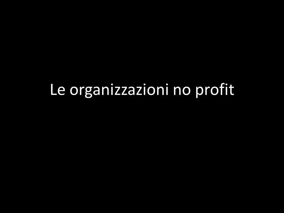 Le organizzazioni no profit