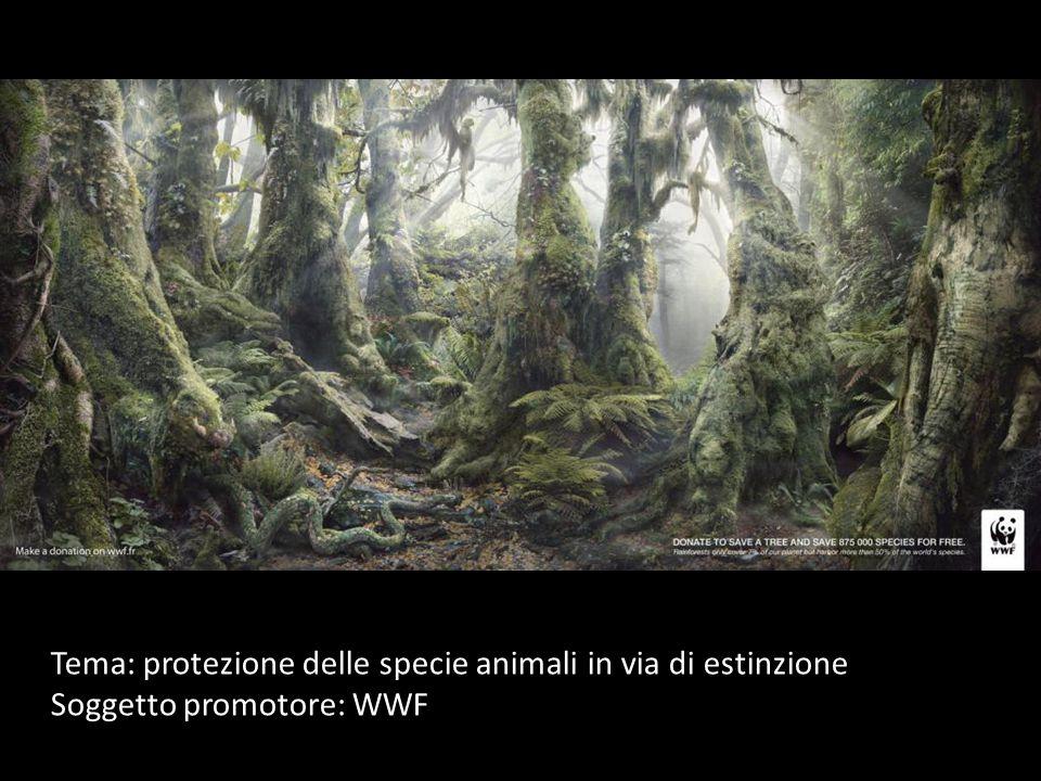 Tema: protezione delle specie animali in via di estinzione