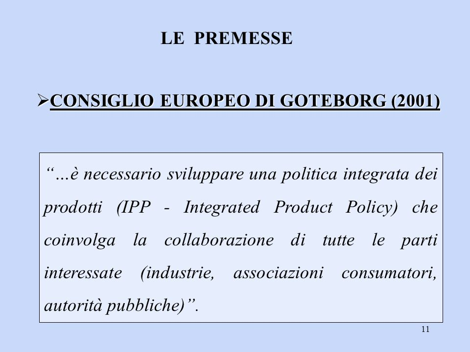 CONSIGLIO EUROPEO DI GOTEBORG (2001)